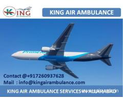 Air Ambulance Service in Allahabad with Medical Solution by King
