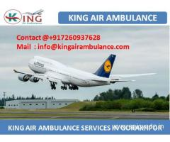 Get Air Ambulance Service in Gorakhpur at Low Fare by King