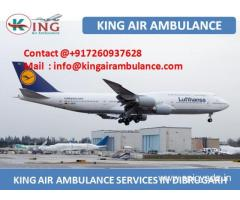 Get Quick and Fast Air Ambulance Service in Dibrugarh by King