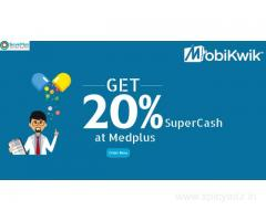 Get 20% SuperCash at Medplus Online