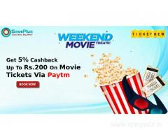 TicketNew Coupons, Deals & Offers: Get 5% Cashback Up To Rs.200 On Movie Tickets