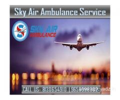 Book a World-Class Air Ambulance in Varanasi with Medical System