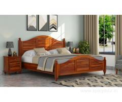 Buy wooden bed without storage in Bangalore at Wooden Street