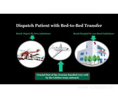Lifeline Air Ambulance in Imphal Dispatch with Comprehensive Medical Tools