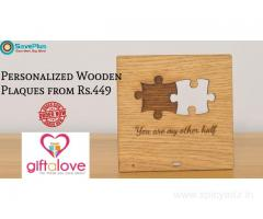Personalized Wooden Plaques from Rs.449