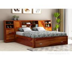 Buy solid wood beds online at Wooden Street