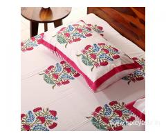 Amazing Range of Cotton Bed sheets Online at Best Offers at Wooden Street