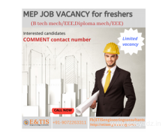MEP Job openings for freshers in kerala/aborad|Urgent requirement
