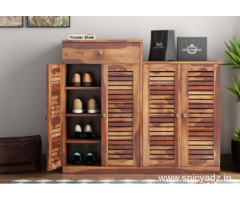 Purchase Amazing solid wood living cabinets online @Wooden Street