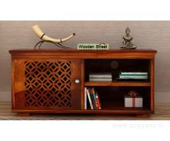 Amazing Solid Wood Display unit designs online @Wooden Street