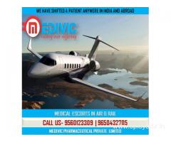 Utilize Hi-fi ICU Support Air Ambulance Services in Mumbai by Medivic