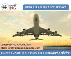Get Finest Air Ambulance from Bagdogra with Medical Team by King