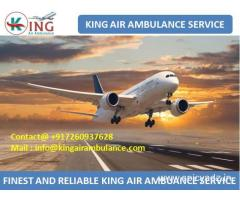 Hire Best Emergency Air Ambulance from Bhopal at Low Cost by King
