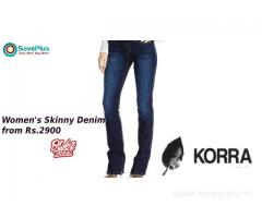 Korra Coupons, Deals & Offers: Women's Jeans from Rs.2900-Nov 2019