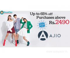 AJIO Coupons, Deals: Up to 65% off Purchases above Rs.2490