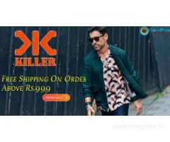 Killer Jeans Coupons, Deals & Offers: Free Shipping On Ordes Above Rs.999