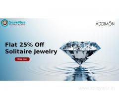 Addimon Coupons, Deals & Offers: Flat 25% Off Solitaire Jewelry
