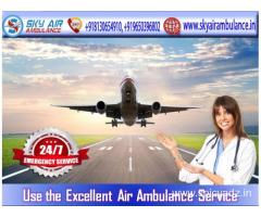 First-Class Medical Service in Sky Air Ambulance from Raipur