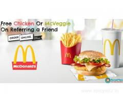 McDonald's Coupons, Deals: Free Chicken Or McVeggie On Referring a Friend