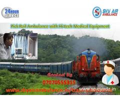 Take Trusted Train Ambulance in Raipur with MD Doctor