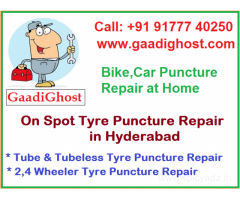 Tube and Tubeless Puncture Repair at Home Hyderabad
