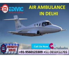 Select Emergency Bed to Bed Shifting by Medivic Air Ambulance in Delhi