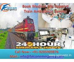 Get Support ICU Emergency Train Ambulance in Kolkata by Falcon Emergency
