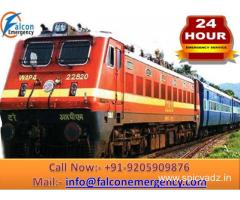 Medical Treatment with Shifting by Falcon Train Ambulance in Guwahati with ICU Setup