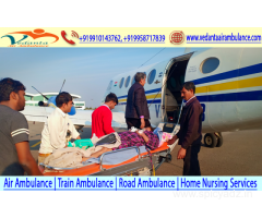 Today's best medical facility by Vedanta Air Ambulance in Kolkata