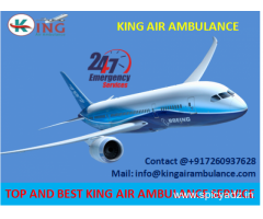 Most Economical Cost Air Ambulance in Allahabad with Full ICU Setup by King