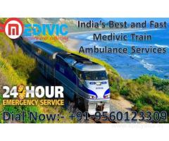 Pick Risk-Free ICU Emergency Train Ambulance in Patna by Medivic