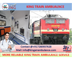 Take on Low Cost Classy Train Ambulance Guwahati to Delhi by King