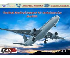 Immediate Pick the Medilift Air Ambulance in Kolkata with ICU Facility
