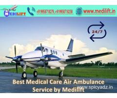 Emergency Patient Care Air Ambulance in Mumbai by Medilift