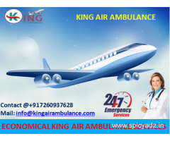Take Top Class Emergency Air Ambulance Services in Varanasi at Low cost by King