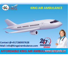 Take Life Support Emergency Air Ambulance in Bokaro at Low Amount by King