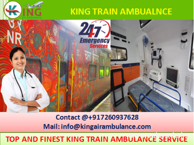 Get Best Train Ambulance from Patna to Delhi with Full Medical Support by King - 1