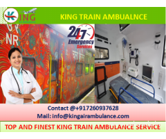 Get Best Train Ambulance from Patna to Delhi with Full Medical Support by King