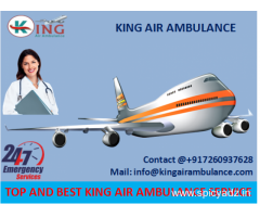 Get Complete ICU Facility Emergency Air Ambulance in Guwahati by King