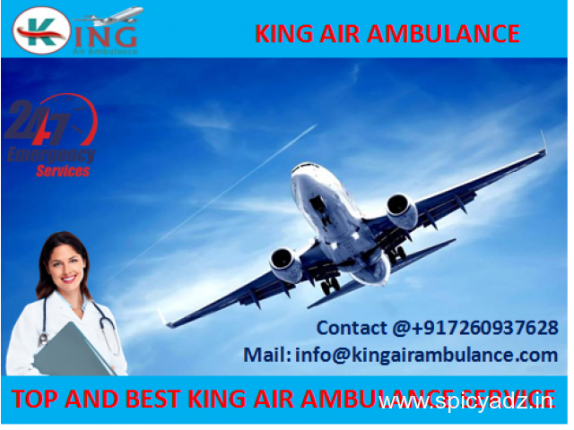 Pick up at Low Rate Emergency Air Ambulance in Bagdogra by King - 1