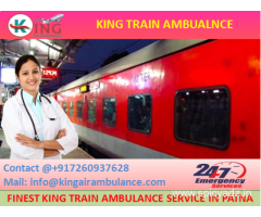 Hire More Reliable Train Ambulance from Patna to Delhi by King