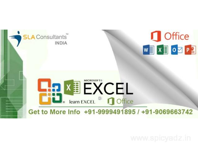 Learn Best Advanced Excel Training in Gurgaon & Delhi NCR at SLA Consultants Gurugram - 1