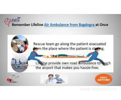 Lifeline Air Ambulance in Bagdogra Make Evacuation from Threshold