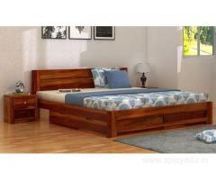 Check out the latest latest double bed designs collection - Wooden Street