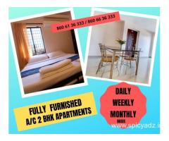 FULLY FURNISHED 2 BHK AC APARTMENTS