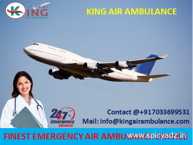 Hire More Reliable Air Ambulance from Dimapur to Delhi by King - 1