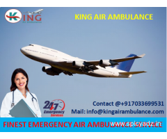 Hire More Reliable Air Ambulance from Dimapur to Delhi by King