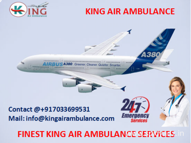 Book Finest King Emergency Air Ambulance from Dibrugarh to Delhi - 1