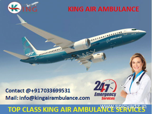 Pick up Most Economical Air Ambulance from Bagdogra to Delhi by King - 1