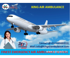 Get Finest King Emergency Air Ambulance from Bokaro to Delhi